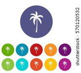 palm tree set icons in... | Shutterstock .eps vector #570120532