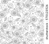 floral seamless pattern with... | Shutterstock . vector #570123526