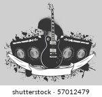 musical graffiti bunner | Shutterstock .eps vector #57012479