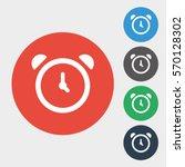 clock icon. vector illustration ... | Shutterstock .eps vector #570128302