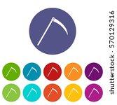 scythe set icons in different... | Shutterstock .eps vector #570129316