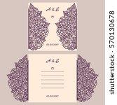 wedding invitation or greeting... | Shutterstock .eps vector #570130678