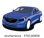 sedan vector blue | Shutterstock .eps vector #570130858