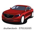 sedan vector red | Shutterstock .eps vector #570131035