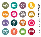 motorcycle icon set | Shutterstock .eps vector #570137488