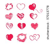 set icon    hearts | Shutterstock .eps vector #57013778