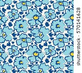 seamless pattern with hand... | Shutterstock .eps vector #570141628