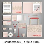 pink corporate identity... | Shutterstock .eps vector #570154588