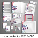 white corporate identity... | Shutterstock .eps vector #570154606