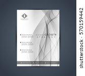 abstract grey business brochure ... | Shutterstock .eps vector #570159442