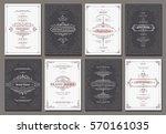 retro creative card template... | Shutterstock .eps vector #570161035