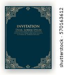 vector invitation  cards or... | Shutterstock .eps vector #570163612