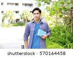 smiling college student | Shutterstock . vector #570164458