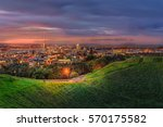 mount eden and auckland city | Shutterstock . vector #570175582