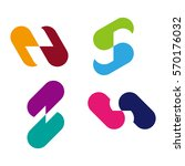 design vector capsule logo... | Shutterstock .eps vector #570176032