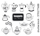 Hand Drawn Teapots Collection....