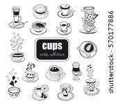 hand drawn cups collection.... | Shutterstock .eps vector #570177886