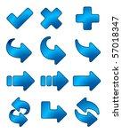arrow icon blue set | Shutterstock .eps vector #57018347
