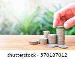 coins growth to profit concept...   Shutterstock . vector #570187012