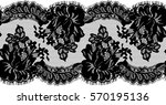 seamless black vector lace... | Shutterstock .eps vector #570195136