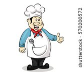 cartoon cute funny chef cook in ... | Shutterstock .eps vector #570200572