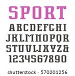 serif font and numerals in... | Shutterstock .eps vector #570201256