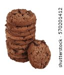 chocolate chip cookies stacked. ... | Shutterstock . vector #570201412