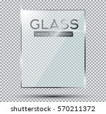 glass plate isolated on... | Shutterstock .eps vector #570211372