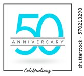 anniversary emblems 50... | Shutterstock .eps vector #570213298