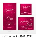 set of stylish sale banners of...
