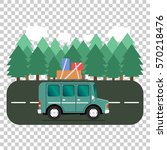 travel car campsite place... | Shutterstock .eps vector #570218476