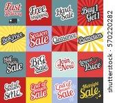 big set of typographic for sale ... | Shutterstock .eps vector #570220282