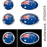 australian flag buttons | Shutterstock .eps vector #57022474