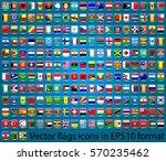 flags set in eps 10 format.... | Shutterstock .eps vector #570235462
