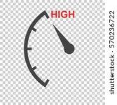speedometer  tachometer  fuel... | Shutterstock .eps vector #570236722
