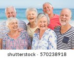 portrait of senior friends at... | Shutterstock . vector #570238918