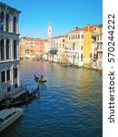view of grand canal in city...   Shutterstock . vector #570244222