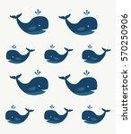 little blue whales  vector... | Shutterstock .eps vector #570250906