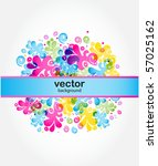 abstract floral background | Shutterstock .eps vector #57025162