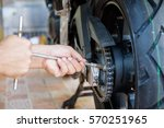 cropped of automobile mechanic...   Shutterstock . vector #570251965