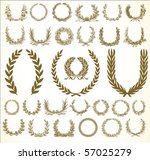 set of vector wreaths and... | Shutterstock .eps vector #57025279