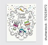 costumes carnival invitation... | Shutterstock .eps vector #570253972