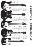 2011 stylish guitar calendar...   Shutterstock .eps vector #57025555