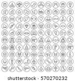 set of 100 isolated minimal... | Shutterstock .eps vector #570270232