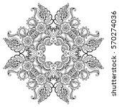 vector henna tatoo mandala.... | Shutterstock .eps vector #570274036