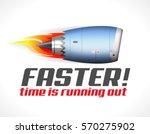 turbo jet engine   faster  ...   Shutterstock .eps vector #570275902