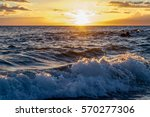 waves glistening with the... | Shutterstock . vector #570277306