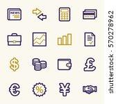 finance web icons set | Shutterstock .eps vector #570278962