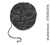 wool ball illustration on...   Shutterstock .eps vector #570282376