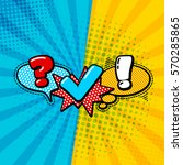 vector quiz isolated logo.... | Shutterstock .eps vector #570285865